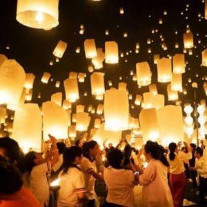 12 Original sky lanterns